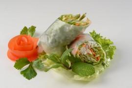 Rouleau de printemps végétarien (2 pièces)