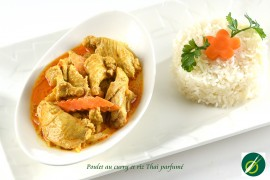 Poulet au curry et Riz cantonais