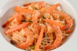 Vermicelles sautés aux crevettes (portion de 200g)